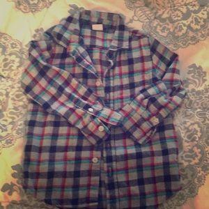 Boy's flannel collared shirt